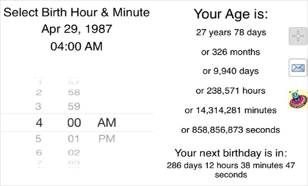 age calculator calculate chronological age