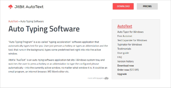 auto typing software