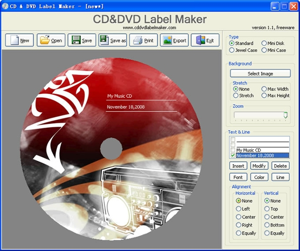 7 best cd label maker software free download for windows for Dvd label template for mac