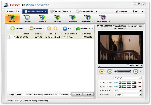 dat to hd device converter