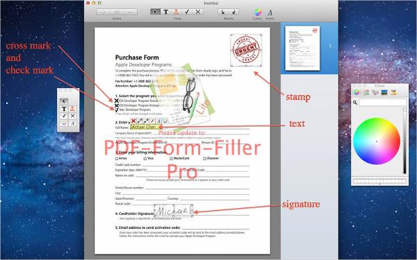 form filler for mac
