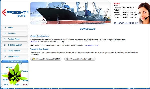 newage freight forwarding software