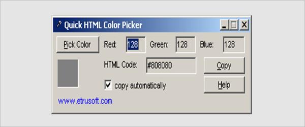 quick html color picker