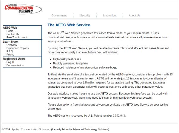 aetg web service