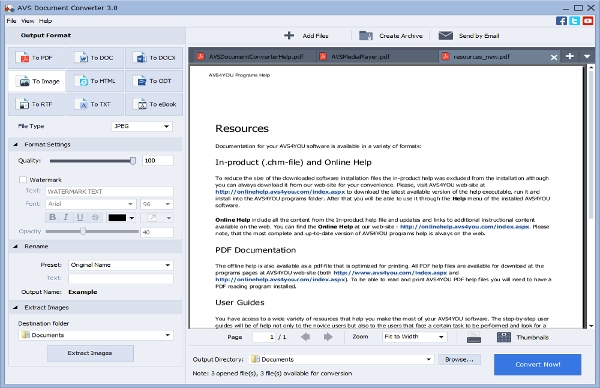 avs document converter 3