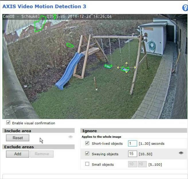 axis video motion detection