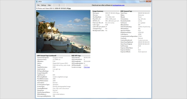 acute photo exif viewer