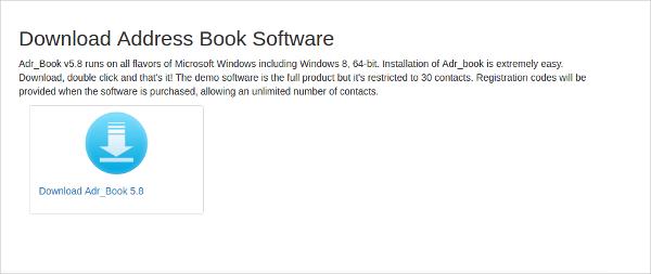 address book software