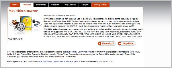 anvsoft m4v video converter