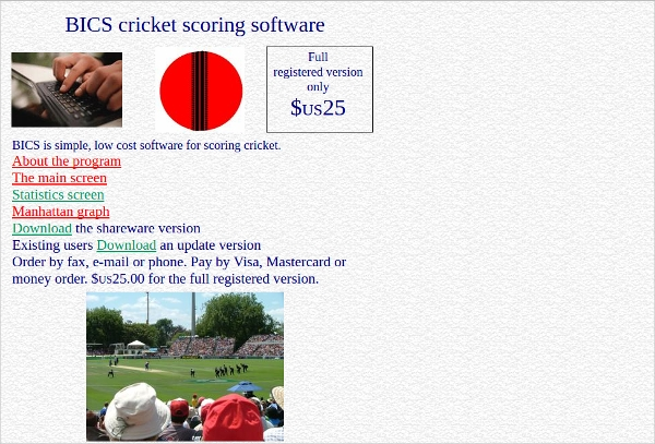 bics cricket scoring software