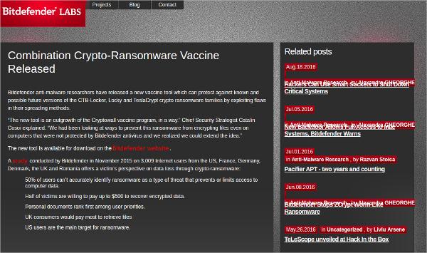 bitdefender antiransomware