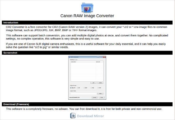canon raw image converter