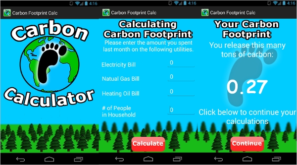 carbon footprint calculator android