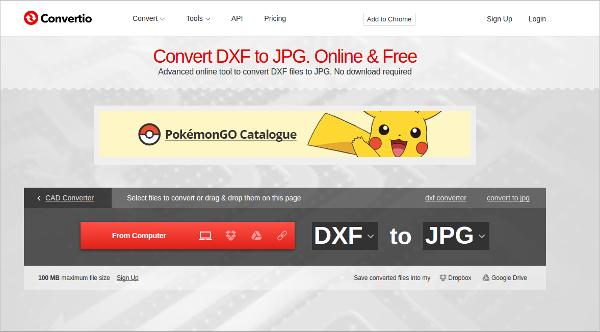 convert dxf to jpg