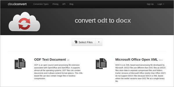 zamzar odt to pdf converter