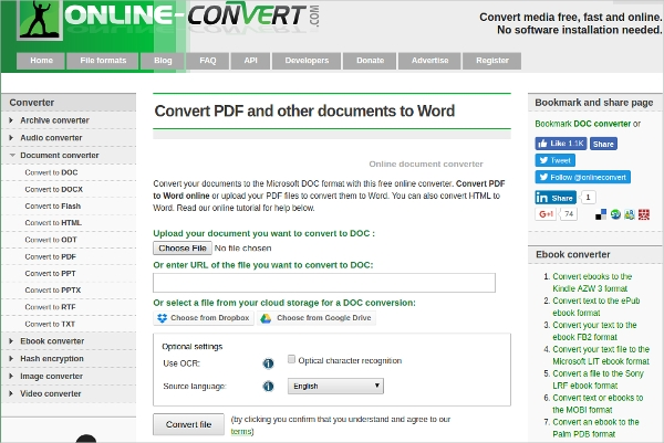 convert pdf and other documents to word