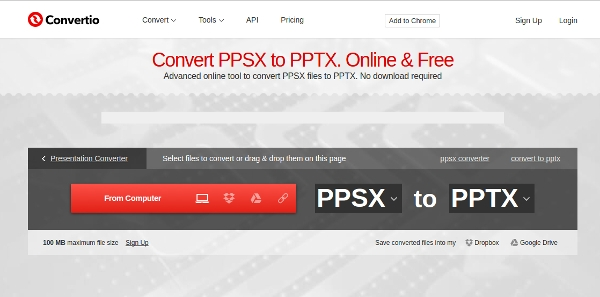 convert ppsx to pptx