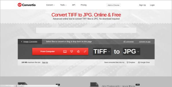 convert tiff to jpg