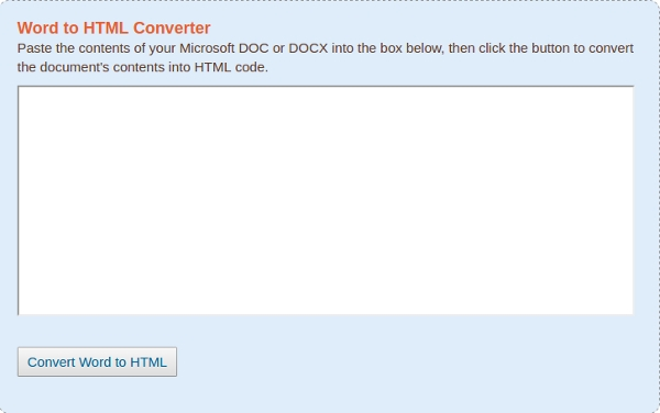 convert word doc to html