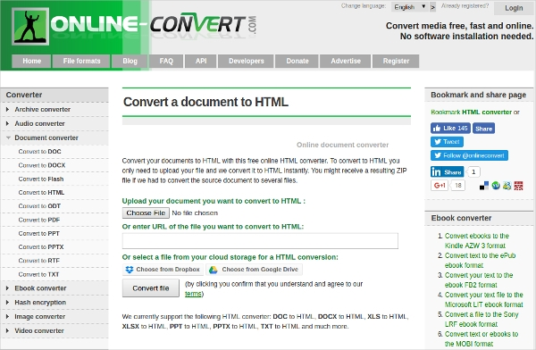 convert a document to html
