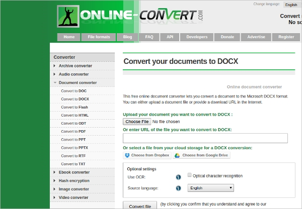 convert your documents to docx