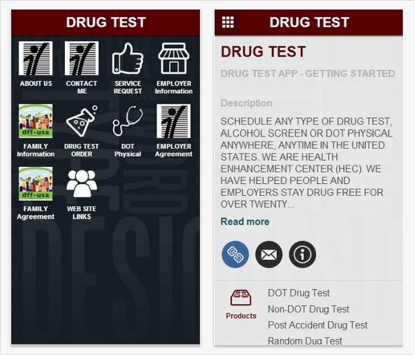 drug test app