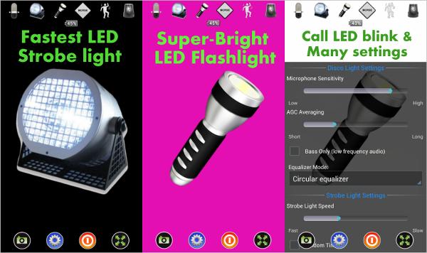 disco light%e2%84%a2 led flashlight
