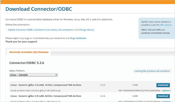 download connectorodbc
