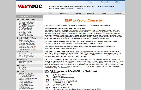 emf to vector converter