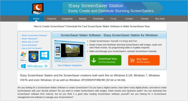 easy screensaver station