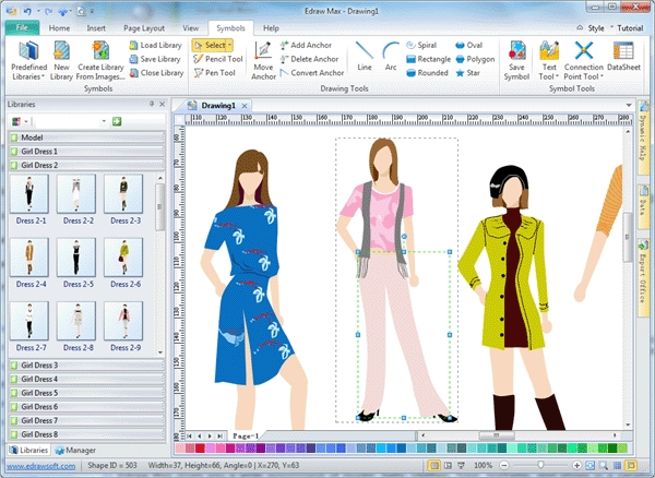 edraw max fashion design software