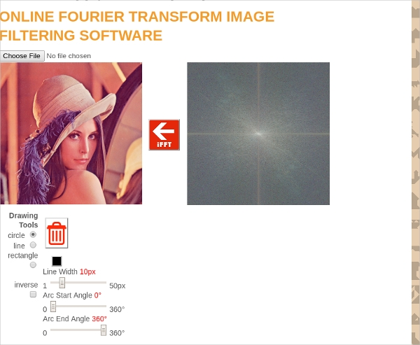 fourier transform image filtering software