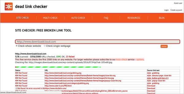 free broken link checker