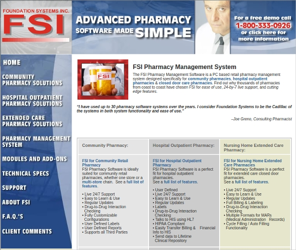 fsi pharmacy management system