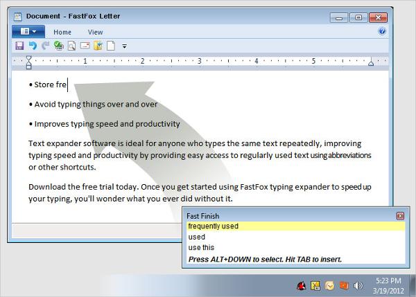 fastfox text expander software