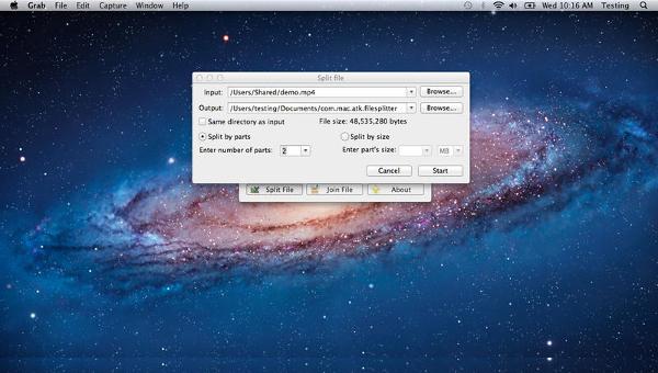 file splitter mac