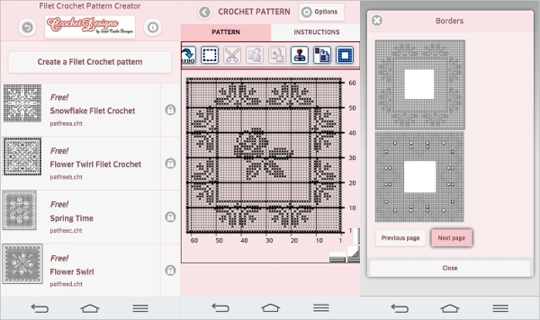 filet crochet pattern creator