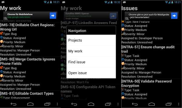 gemini issue tracker app