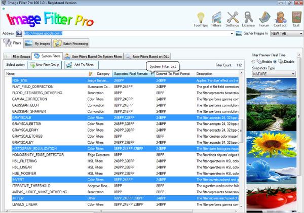 image filter pro 100