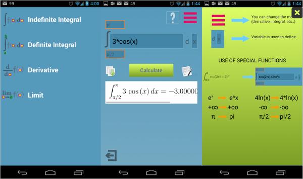 integralderivative calculator