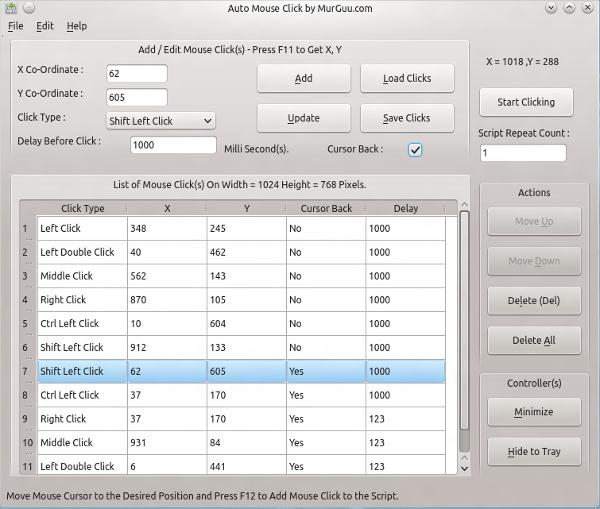 linux auto mouse click software