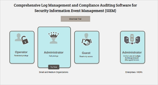 log management and compliance auditing software