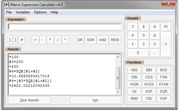 macro expression calculator