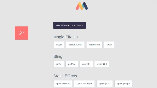 magic animation css3