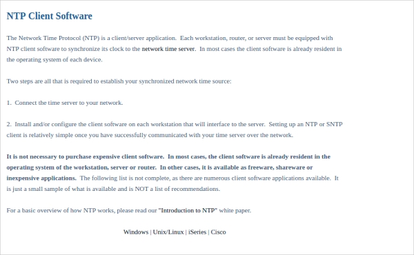 ntp client software