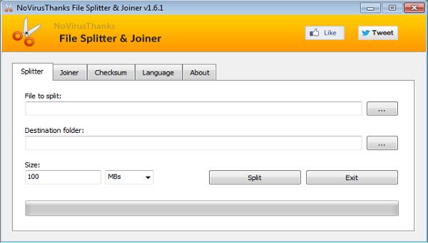 novirusthanks file splitter joiner