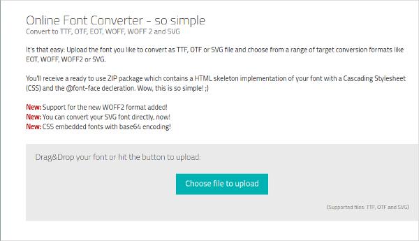 online font converter