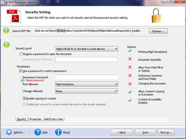 pdf encryption