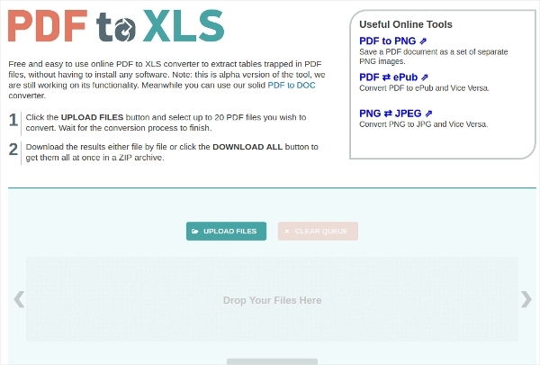 pdf to xls