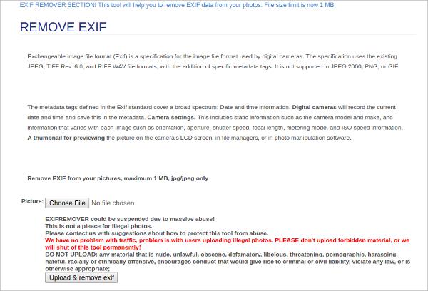remove exif